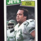 1987 Topps Football #137 Marty Lyons - New York Jets Vg