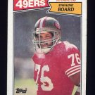 1987 Topps Football #120 Dwaine Board - San Francisco 49ers