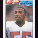 1987 Topps Football #108 Don Blackmon - New England Patriots