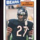1987 Topps Football #060 Mike Richardson - Chicago Bears