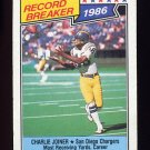 1987 Topps Football #004 Charlie Joiner RB - San Diego Chargers