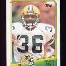 1988 Topps Football #316 Kenneth Davis - Green Bay Packers NM-M