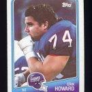 1988 Topps Football #280 Erik Howard - New York Giants