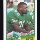 1988 Topps Football #247 Jerome Brown RC - Philadelphia Eagles