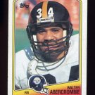 1988 Topps Football #164 Walter Abercrombie - Pittsburgh Steelers