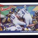 1991 Topps Football #646 New York Giants Team Leaders
