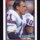 1991 Topps Football #547 Greg Kragen - Denver Broncos