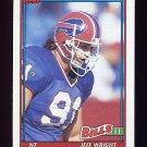 1991 Topps Football #056 Jeff Wright RC - Buffalo Bills
