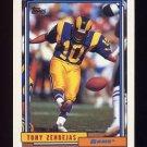 1992 Topps Football #479 Tony Zendejas - Los Angeles Rams