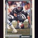 1992 Topps Football #406 Don Mosebar - Los Angeles Raiders