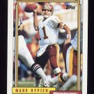 1992 Topps Football #295 Mark Rypien - Washington Redskins