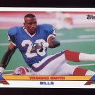 1993 Topps Football #516 Thomas Smith RC - Buffalo Bills