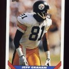 1993 Topps Football #368 Jeff Graham - Pittsburgh Steelers