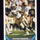 1993 Topps Football #339 Wayne Martin - New Orleans Saints