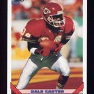 1993 Topps Football #240 Dale Carter - Kansas City Chiefs