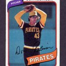 1980 Topps Baseball #719 Don Robinson - Pittsburgh Pirates G