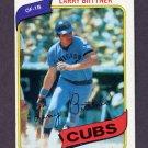 1980 Topps Baseball #639 Larry Biittner - Chicago Cubs