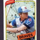 1980 Topps Baseball #632 Barry Bonnell - Atlanta Braves Vg