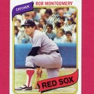 1980 Topps Baseball #618 Bob Montgomery - Boston Red Sox