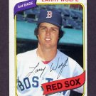 1980 Topps Baseball #549 Larry Wolfe - Boston Red Sox