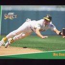 1993 Select Baseball #208 Mike Bordick - Oakland A's