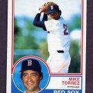 1983 Topps Baseball #743 Mike Torrez - Boston Red Sox