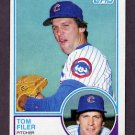 1983 Topps Baseball #508 Tom Filer - Chicago Cubs
