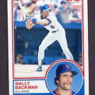 1983 Topps Baseball #444 Wally Backman - New York Mets
