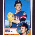 1983 Topps Baseball #429 Eddie Whitson - Cleveland Indians
