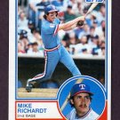 1983 Topps Baseball #371 Mike Richardt - Texas Rangers