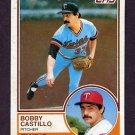 1983 Topps Baseball #327 Bobby Castillo - Minnesota Twins