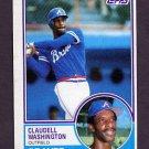 1983 Topps Baseball #235 Claudell Washington - Atlanta Braves