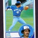 1983 Topps Baseball #109 Luis Leal - Toronto Blue Jays