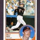 1983 Topps Baseball #084 Milt May - San Francisco Giants