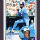 1983 Topps Baseball #077 Hosken Powell - Toronto Blue Jays