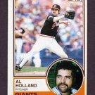 1983 Topps Baseball #058 Al Holland - San Francisco Giants