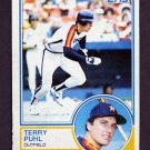1983 Topps Baseball #039 Terry Puhl - Houston Astros