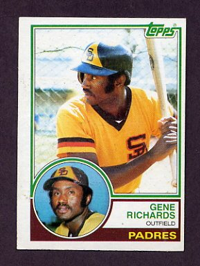 1983 Topps Baseball #007 Gene Richards - San Diego Padres