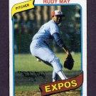 1980 Topps Baseball #539 Rudy May - Montreal Expos Vg