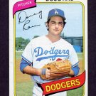 1980 Topps Baseball #527 Doug Rau - Los Angeles Dodgers
