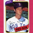 1980 Topps Baseball #524 Jim Wright - Boston Red Sox ExMt