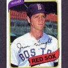1980 Topps Baseball #524 Jim Wright - Boston Red Sox VgEx