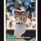 1994 Topps Baseball #708 Dave Henderson - Oakland A's