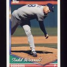 1994 Topps Baseball #611 Todd Worrell - Los Angeles Dodgers