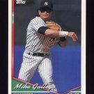 1994 Topps Baseball #432 Mike Gallego - New York Yankees