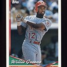 1994 Topps Baseball #428 Willie Greene - Cincinnati Reds