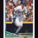 1994 Topps Baseball #339 Matt Mieske - Milwaukee Brewers