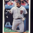 1994 Topps Baseball #327 Mark Carreon - San Francisco Giants