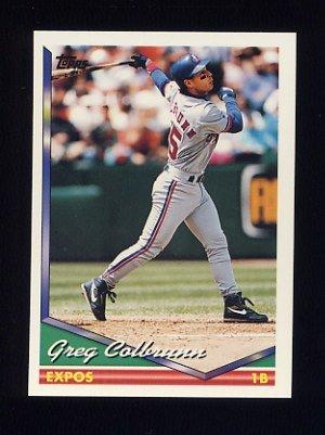 1994 Topps Gold Baseball Card #134 Greg Colbrunn Near Mint//Mint