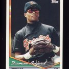 1994 Topps Baseball #061 Damon Buford - Baltimore Orioles